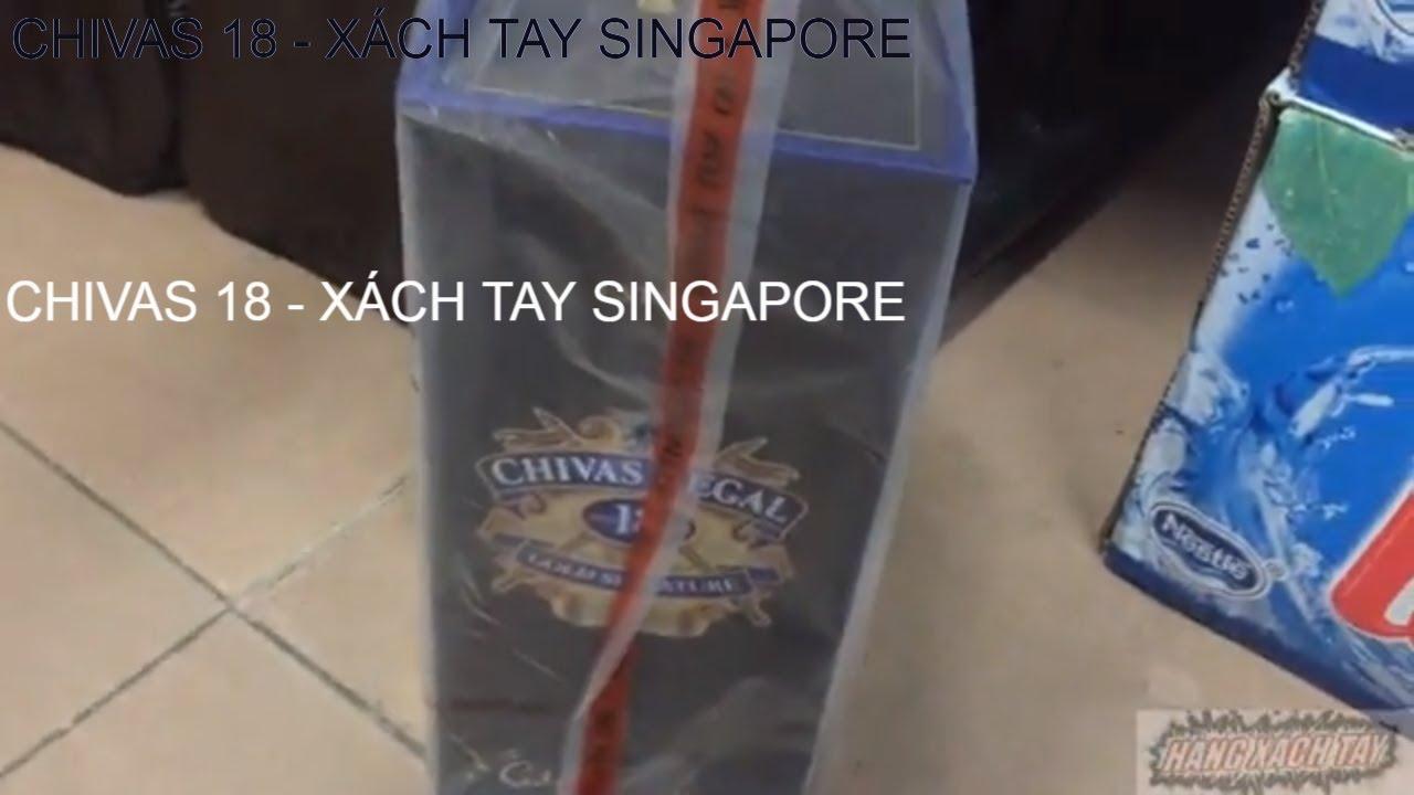 RƯỢU XÁCH TAY – CHIVAS 18 SINGAPORE