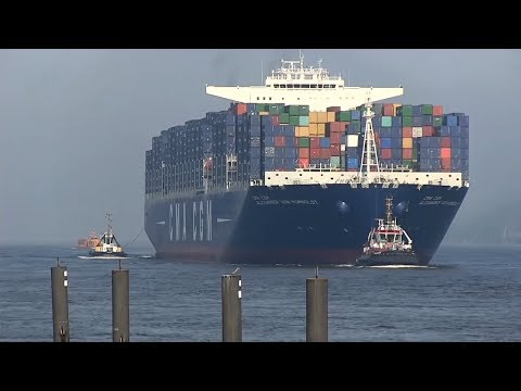 CMA CGM Alexander Von Humboldt / ex-Largest Container Ship / Port of Hamburg 2013, 28th May