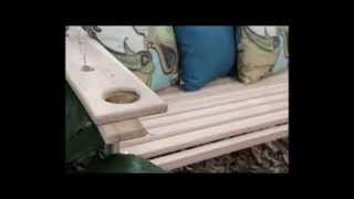 Cypress Porch Swing 5 Foot Handmade