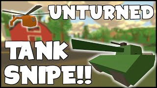 UNTURNED Crazy TANK Helicopter SNIPE!!! | Unturned Funny Moments