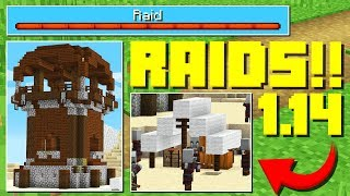 MINECRAFT RAIDS! (NEW Minecraft 1.14 Snapshot Update)
