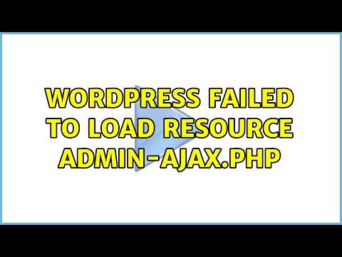 Failed to load resource wordpress