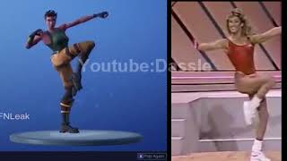 Fortnite Work It Out Emote in Real Life! (UPDATED) (COMPARISON) (LEAKED DANCE)