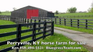 Kentucky horse farm land barn stream house KY listing for sale