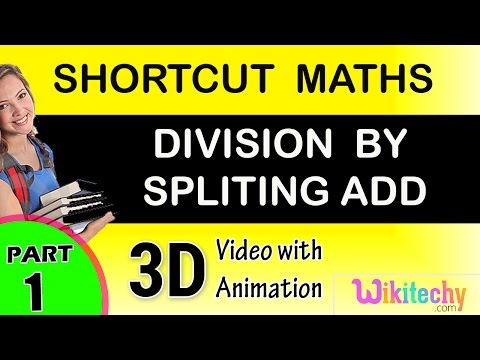 long division done by spliting add method maths class 5 6 7 8 9 10 tricks shortcuts online videos