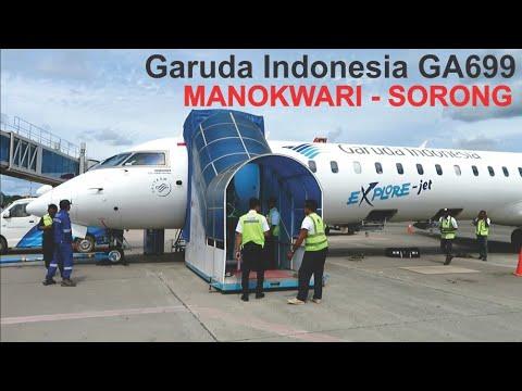 Penerbangan Manokwari - Sorong Bersama Garuda Indonesia GA699, Landing Sorong Airport