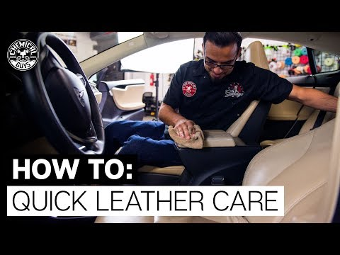 How To Clean Dirty Leather Interior | Tesla Model S | Chemical Guys