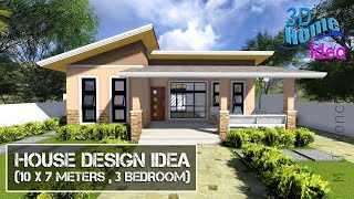 House Design Idea   10 X 7 Meters , 3 Bedroom