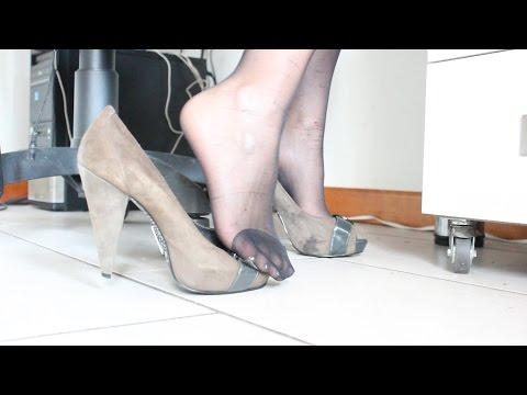 E Youtube Dangling 8vn0mwno Velate Con Tacco In Calze Ufficio SUVzpqM