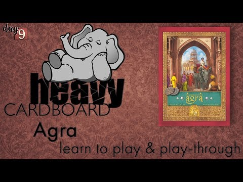Agra 3p Play-through, Teaching, & Roundtable discussion by Heavy Cardboard