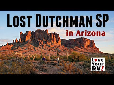 Camping at Lost Dutchman State Park in Arizona