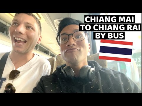 Chiang Mai To Chiang Rai By Bus | First Impression Of Chiang Rai | Best Hostel In Chiang Rai