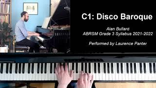 C:1 Disco Baroque (ABRSM Grade 3 piano, 2021-2022 syllabus)