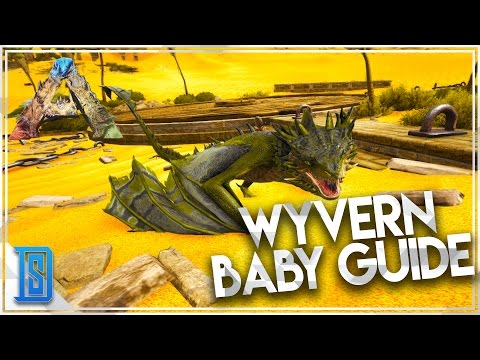 Ark:Survival Evolved -Scorched Earth - HOW TO TAME/RAISE A WYVERN/GET WYVERN MILK!(QUICK GUIDE)