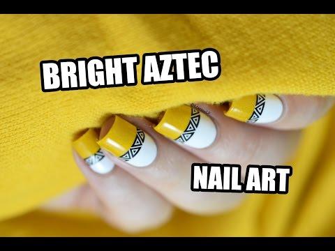 How To: Bright Aztec Nail Art || Marine Loves Polish