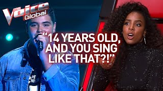 Download Wow! NOBODY believed this singer in The Voice is just 14 years old! | Journey #47 Mp3 and Videos