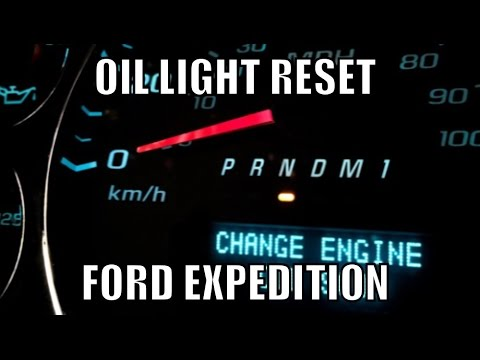 how to reset oil change light on ford f250