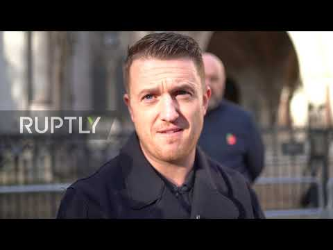 UK: Tommy Robinson in court after being sued by Syrian schoolboy for libel