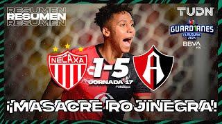 Resumen y goles | Necaxa 1-5 Atlas | Torneo Guard1anes 2021 BBVA MX J17 | TUDN