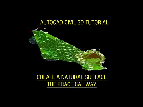 Autodesk Civil 3D Tutorial for Beginners - Create a natural surface the practical way