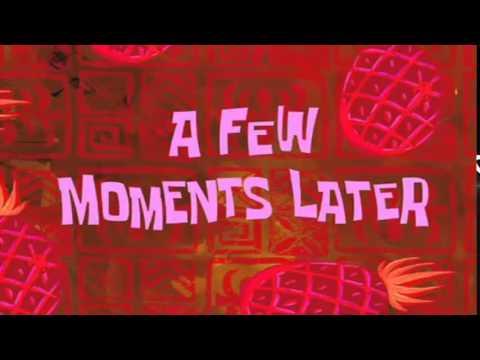 A few moments later spongebob time card