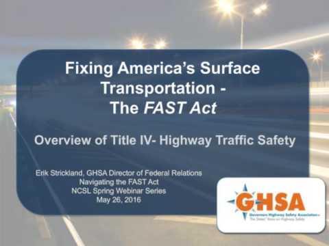 Webinar: Navigating the FAST Act