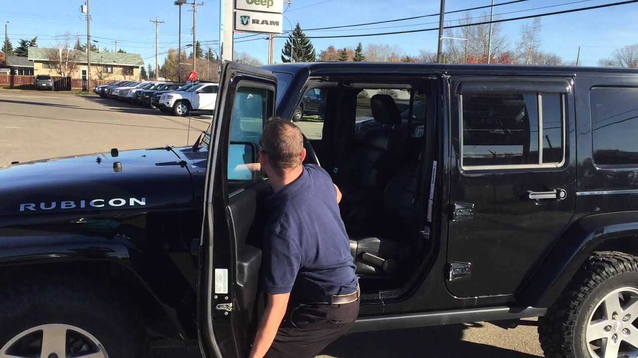 2012 Jeep Rubicon Unlimited Door And Roof Removal