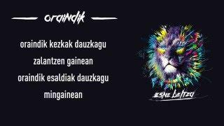 ESNE BELTZA - ORAINDIK (Lyric video)