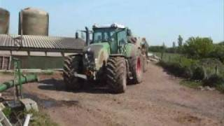 fendt 936 tractor and slurry tanker the big one !!