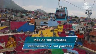 Iztapalapa desarrolla proyecto para borrar imagen de nota roja y resaltar el empoderamiento de sus habitantes; 35 obras engalanan  trayecto del transporte