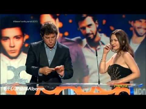 Pablo Alborán ganador mejor single para ligar en Neox Fan Awards