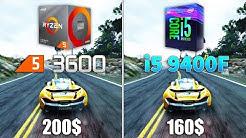 Ryzen 5 3600 vs i5 9400F Test in 9 Games