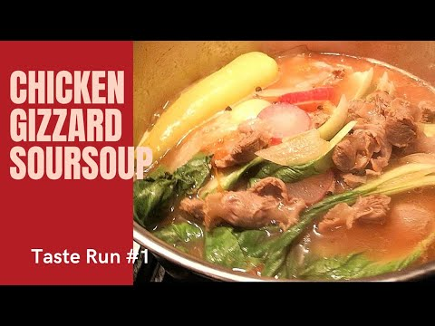 Chicken gizzard soursoup!!!! #Cheap ingredients!! #easytocook