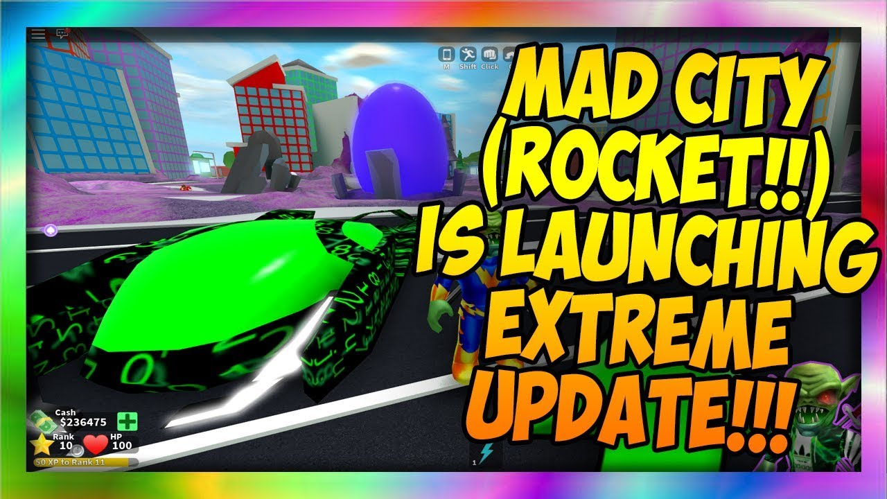 Start Off With The Super Rocket Launcher Roblox Mad City How To Launch The Rocket Crazy Update Codes In Description Roblox Youtube
