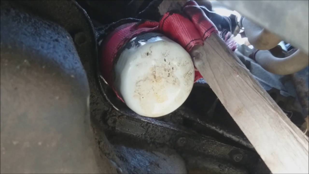 2007 Toyota Matrix Oil Change And Home Made Oil Filter