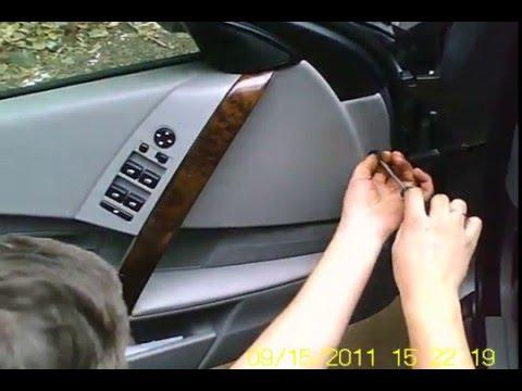 как снять обшивку двери бмв е60