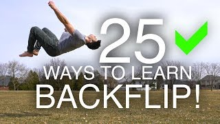 25 Ways to Learn How to Backflip!