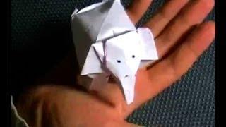 Как сделать из бумаги слона, вариант 3