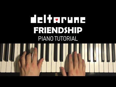 DELTARUNE - Friendship (Piano Tutorial Lesson)