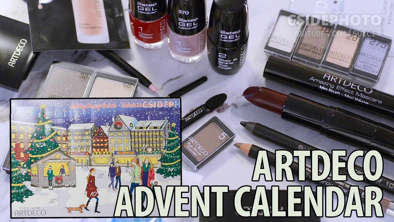 Art Deco Advent Calendar : Artdeco makeup advent calendar review demo swatches