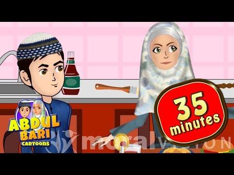 Forgot Bismillah and washing hands and many more -  Islamic cartoons by Moral Vision