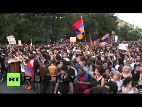 Акция в центре Еревана