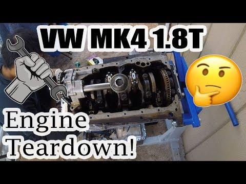 VW MK4 1.8T Engine Disassembly