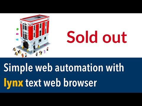 Simple Web Automation With Lynx Text Web Browser