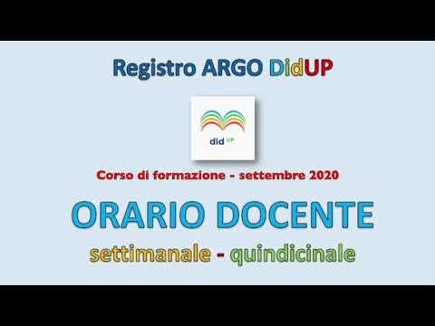 Argo DidUP 1 Orario docente (orario settimanale o alternato)