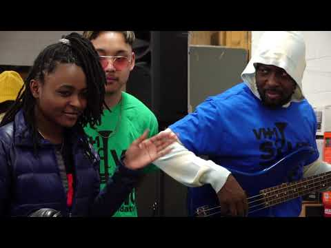Wyclef Jean celebrates with South Philadelphia High School