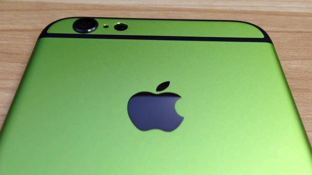sale retailer e6e84 6ab19 iPhone 6 Custom Green and Black Housing