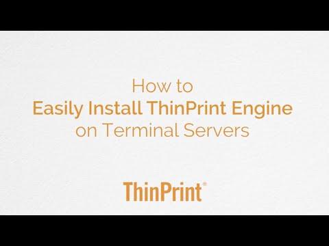 Windows Server - How to install ThinPrint Engine on terminal servers