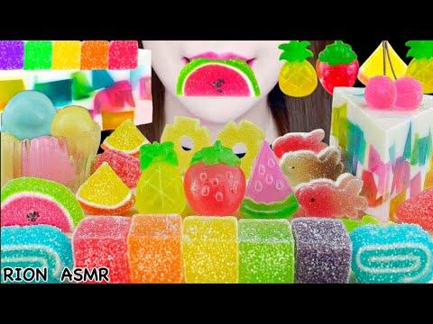 Download �ASMR】KANTEN JELLY PARTY✨ FRUITS KANTEN JELLY,KOHAKUTO,JELLY CAKE MUKBANG 먹방 EATING SOUNDS