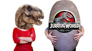 giant surprise egg jurassic world dinosaur toys